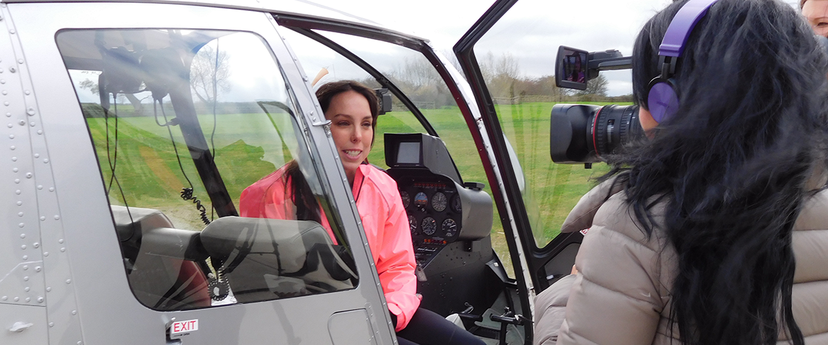 Beth Tweddle at Central Helicopters