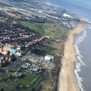 Helicopter flight over Skegness