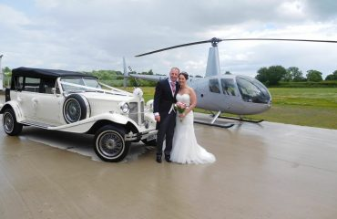 hire a helicopter for your wedding day in Nottinghamshire
