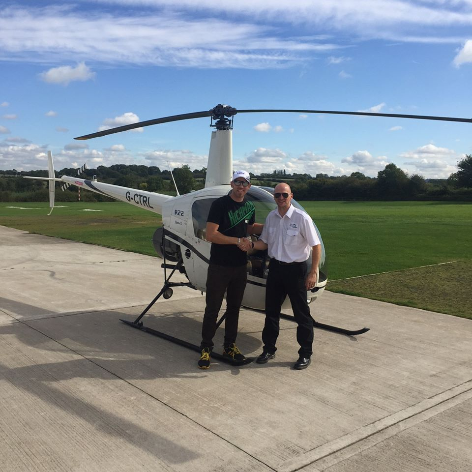 Superbikes Star Peter Hickman Takes Helicopter Trial Lesson