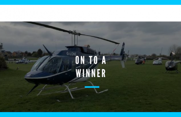 hire a helicopter for a great sporting event this year?